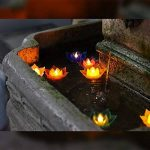 7Couleur Bougie flottante Lotus Bougie LED à piles sans flamme Bougie lumière Belle lampe de festival et décoration pour la maison, jardin, bassin (lot de 7) de la marque Romingo image 4 produit