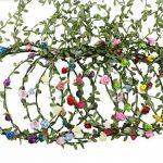 9 Pièces Fleur Couronne Bandeaux Guirlande - Femme Fille Multicolore Floral Bandeau pour Festival De Mariage Accessoires De Cheveux de la marque AWAYTR image 1 produit