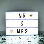 A4 cinématographique Boîte à lumière Panneau avec lettres et emoji pour les fêtes, les mariages, les jalons de promotion, Baby de la marque Gate 35 image 2 produit