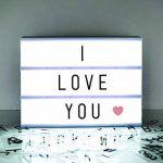 A4 cinématographique Boîte à lumière Panneau avec lettres et emoji pour les fêtes, les mariages, les jalons de promotion, Baby de la marque Gate 35 image 4 produit
