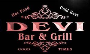 ADV PRO u11267-r DEVI Family Name Gift Bar & Grill Home Beer Neon Light Sign Enseigne Lumineuse de la marque ADV PRO image 0 produit