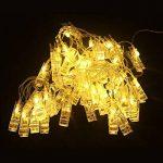 AFAITH Guirlande LED Photo à clips, clip pour photo Guirlande lumineuse (40 LEDs Blanc Chaud) - ajustement parfait, Salle de décoration Porte Photo avec Clips TG031 de la marque AFAITH image 4 produit