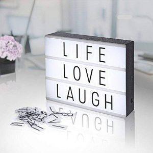 AGM Boîte Lumineuse Lightbox Lettres et Symboles Boîte à Lumière LED Format A4 à Piles pour Décorer Anniversaire / Mariage / Famille / Boutique / Chambre de la marque AGM image 0 produit