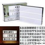 AGM Boîte Lumineuse Lightbox Lettres et Symboles Boîte à Lumière LED Format A4 à Piles pour Décorer Anniversaire / Mariage / Famille / Boutique / Chambre de la marque AGM image 4 produit