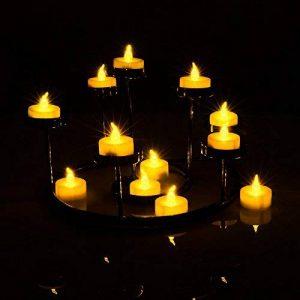 AGPTEK Lot de 100 Bougie LED à Piles avec Flamme Vacillante, Décoration pour Table Fête Party Anniversaire Mariage (Ambre) de la marque AGPTEK image 0 produit