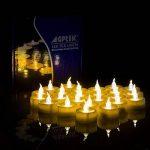 AGPTEK Lot de 100 Bougie LED à Piles avec Flamme Vacillante, Décoration pour Table Fête Party Anniversaire Mariage (Ambre) de la marque AGPTEK image 2 produit