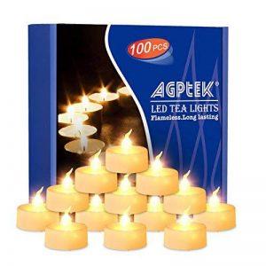 AGPTEK Lot de 100 Bougie LED à Piles (Blanc Chaud) Decoration pour Table Party Anniversaire Mariage de la marque AGPTEK image 0 produit