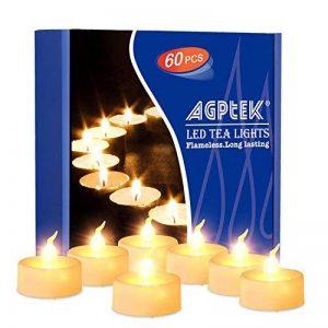 AGPtek Lot de 60 Bougie LED à Piles Decoration pour Table Party Anniversaire Mariage (Blanc Chaud) de la marque AGPTEK image 0 produit