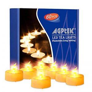 AGPTEK Lot de 60 Bougies à LED Sans Flamme Decoration pour Anniversaire Mariage -Jaune Ambré de la marque AGPTEK image 0 produit