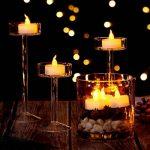 AGPTEK Lot de 60 Bougies à LED Sans Flamme Decoration pour Anniversaire Mariage -Jaune Ambré de la marque AGPTEK image 3 produit