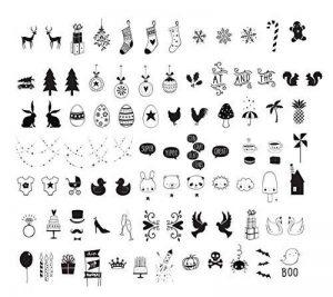 Ai-life 84Pcs DIY Décoratif Noir Panneaux de Cinéma pour A4 LED Lumineuses Cinéma Boîtes, Spéciaux Décoratifs Graphiques et Symboles pour l'utilisation avec la Boîte Cinématique de Format A4, Décoration d'Halloween de Noël de la marque Ai-life image 0 produit