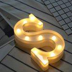 AIZESI Applique Murale Veilleuses Murales Lampes de Chevet Lampes de Bureau Lumière d'ambiance Enseignes Lumineuses Lettres Lights Décoration LED Alphabet Lumières Marquee Light Sign de la marque AIZESI image 2 produit