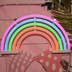 AIZESI Lampe Arc En Ciel LED Neon Rainbow Lampe Arc En Ciel Veilleuse Néon Multicolore Lumière Néon Led Lights Décoration Murale Noël Fête Cadeau pour Enfants(Rainbow) de la marque GB UNICORN image 1 produit