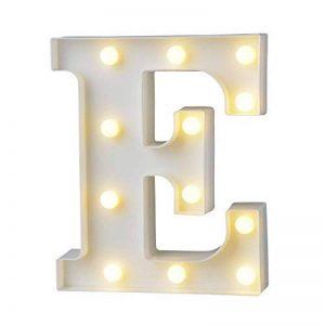 AIZESI Lettre Lampe Lumineuse Lampe Néon LED fée Lumières Blanches Lettres en Bois Lettres Alphabet Lettre E Mariage Nuit Lumière anniversaire proposition Lampe Veilleuse LED de la marque AIZESI image 0 produit