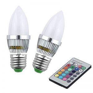 Akaiyal E27 LED Bougie Ampoule RGB 16 Couleurs Changeantes C35 Bougies Ampoules 4 Modes pour la Décoration Ambiance Eclairage (2-Pack) de la marque Akaiyal image 0 produit
