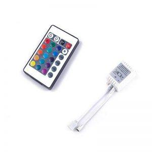 ALED LIGHT® 24 Touches Télécommande IR et Blanc IR Contrôleur Pour RGB LED Bande 3528 SMD Ruban Lumineuse de la marque ALED LIGHT image 0 produit