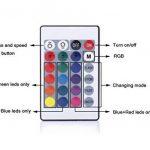 ALED LIGHT® 24 Touches Télécommande IR et Blanc IR Contrôleur Pour RGB LED Bande 3528 SMD Ruban Lumineuse de la marque ALED LIGHT image 3 produit