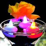 Alfaled 12pcs étanche sans flamme LED bougie chauffe-plat Bougie flottante lumière pour maison fête de mariage Bar Décoration florale - multicolore de la marque ALFALED image 2 produit