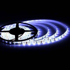 Allbuymall Bandeau Lumineux 3528 LED Étanche IP65 5M/16.4ft, Ruban LED 3528 SMD 300 LEDs pour la Cuisine Maison Centre Commercial Festival Décoration-(Blanc Froid) de la marque AllbuyMall image 0 produit