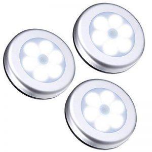 AMIR Lampe Détecteur de Mouvement, Lampe Led Detecteur Placard, Lampe Escalier, Lampe d'armoire, Alimenté par Batterie (non Inclus), Ruban Adhésif 3M et Aimant, Facilité d'installation, 3 Pack (Argent) de la marque AMIR image 0 produit