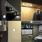 AMIR Lampe Détecteur de Mouvement, Lampe Led Detecteur Placard, Lampe Escalier, Lampe d'armoire, Alimenté par Batterie (non Inclus), Ruban Adhésif 3M et Aimant, Facilité d'installation, 3 Pack (Argent) de la marque AMIR image 1 produit