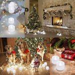 AMIR Lot de 12 Bougie LED, Bougies Sans Flamme, Eclairage de Noël, Réaliste et Lumineux, Puissance de la Batterie, Piles Incluses, pour Noël, Mariage et Fête (Blanc Pur) de la marque AMIR image 1 produit