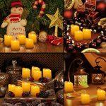 AMIR Lot de 9 Bougies LED, Bougie Sans Flamme avec Télécommande, Luminosité réglable, Bougies de Décoration de Noël, Réaliste et Bright, Piles Incluses, pour Noël, Mariage et Fête (Blanc Chaud) de la marque AMIR image 1 produit