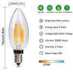 Ampoule LED E14 6w Flamme Bougie LED Candle Light Blanc Chaud 2700k,480lm,Equivalent à Ampoule Halogène 60W,360° Faisceau,220-240V de la marque DaSinKo image 1 produit