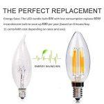 Ampoule LED E14 6w Flamme Bougie LED Candle Light Blanc Chaud 2700k,480lm,Equivalent à Ampoule Halogène 60W,360° Faisceau,220-240V de la marque DaSinKo image 3 produit