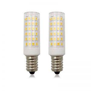 Ampoule LED à intensité variable E14Chandelle 9W SES Petit culot à vis (80W ampoule halogène), 220–240V, 2-pack, Blanch chaud (3000 k), E14, 9.00W 220.00V de la marque ZHENMING image 0 produit