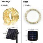 Ankway Guirlande solaire 8modes, comprenant 100LED avec fil de cuivre durable et capteur de lumière IP65étanche, blanc chaud de la marque Ankway image 1 produit