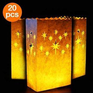 Aookey Bougies Luminaires, 20x Sacs de Bougie Tealight, Coton Anti-feu Réutilisable et Réutilisable, Parfait pour la Maison Décoration Extérieure, Noël, Mariage, Réception, Vacances, Fête et événement de la marque AOOKEY image 0 produit