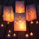 Aookey Bougies Luminaires, 20x Sacs de Bougie Tealight, Coton Anti-feu Réutilisable et Réutilisable, Parfait pour la Maison Décoration Extérieure, Noël, Mariage, Réception, Vacances, Fête et événement de la marque AOOKEY image 1 produit