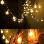 AOOKEY LED Guirlande Lumineuse 10M 80 Ampoules LED à Piles Petites Boules Blanc Chaud Décoration Romantique de la marque AOOKEY image 1 produit