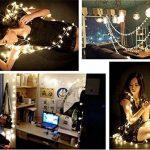AOOKEY LED Guirlande Lumineuse 10M 80 Ampoules LED à Piles Petites Boules Blanc Chaud Décoration Romantique de la marque AOOKEY image 2 produit