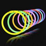 Aookey Lot de 100 Bâtons Lumineux Fluorescents, Glowsticks, Kit Complet Incluant Collier Lumineux, Boules de Fleurs, Verres Lumineux, Triple Bracelets et Pince à Cheveux de la marque Aookey image 3 produit