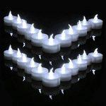 Aookey Lot de 24 Bougies LED à Pile Bougies à LED Fausses Bougies électriques pour Votive Anniversaire Mariage fête Noël de la marque Cookey image 1 produit