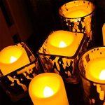 AOSOT Lampes de Bougies LED sans Flamme, à Piles 120+ Heures Non Parfumées vacillante Bougies Votives pour Home Decor Festivals et Fêtes, Piles incluses Lot DE 12 de la marque AOSOT image 4 produit