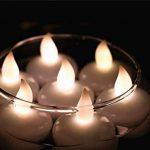 Ardux LED bougies flottantes, 12Pcs/Lot clignotant sans flamme étanche flottant Bougie chauffe-plat Décoration pour fête d'anniversaire de mariage de Noël pour la maison Décoration de jardin de Thanksgiving occasion spéciale, blanc chaud, Set of 12 de la image 1 produit