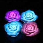 ARDUX LED bougies flottantes, Rose-shape Fleur à changement de couleur étanche Bougie chauffe-plat lumière de nuit sans flamme Bougie avec alimentation par piles (lot de 4) de la marque ARDUX image 3 produit