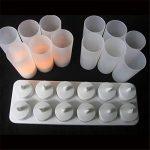 atcket (12Pack) réaliste Bougies chauffe-plat LED Flameless rechargeables avec support F ¨ ¹ R mariage Home Party (pas besoin de piles) de la marque Atcket image 4 produit