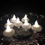 atcket (Wei? chaude, jeu de 12) Batterie eingeschlossen Bougie flottante LED lumière étanche sans flamme bougie F ¨ ¹ R Festival de Parti de mariage de la marque Atcket image 2 produit