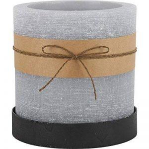 Athezza - Photophore bougie gris GM - Design - Parfait pour sublimer vos bougies - Cire de paraffine de la marque Athezza image 0 produit