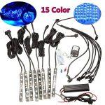 AUDEW 8x Ruban à LED Néon Bande Flexible Strip Light 15 Multi Couleur Eclairage Kit Télécommande Pour Moto Vélo de la marque AUDEW image 1 produit