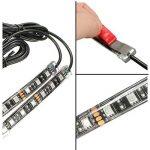 AUDEW 8x Ruban à LED Néon Bande Flexible Strip Light 15 Multi Couleur Eclairage Kit Télécommande Pour Moto Vélo de la marque AUDEW image 3 produit