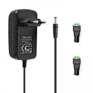 Aukru Bloc d'alimentation 12V 2A 24W 5.5mm*2.5mm avec prise UE pour ruban LED LD137 RVB RGB - AC adaptateur secteur 100-240V (Noir) de la marque Aukru image 0 produit