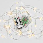 Aurglow guirlande lumineuse pour Noël de 5m extérieure et résistante à l'eau, alimentée par piles avec câble invisible et 50 micro LED – Blanc Chaud de la marque Auraglow image 3 produit