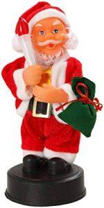 AUTOUR DE MINUIT 5AUT241RO Automate Père Noël avec Bougie à Piles Plastique Multicolore 11x10x20 cm de la marque AUTOUR DE MINUIT image 0 produit