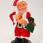 AUTOUR DE MINUIT 5AUT241RO Automate Père Noël avec Bougie à Piles Plastique Multicolore 11x10x20 cm de la marque AUTOUR DE MINUIT image 1 produit
