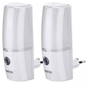 AVANTEK ELF-L5 Lot de 2 Veilleuses LED Murales Photosensibles Automatiques avec Prise pour Escalier, Couloir, Cuisine, Titoir, Garage, Toilette, Cave, Sortie etc de la marque AVANTEK image 0 produit